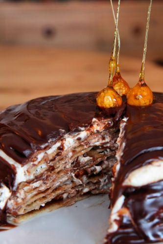 Nutella Crepe Cake: Cakes Cookies, Recipes Food, Crepes Cakes Nutella, Nutella Cakes, Pancakes Cakes, Crepe Cake, Nutella Crepes, Easy Pancakes, Desserts Sweet
