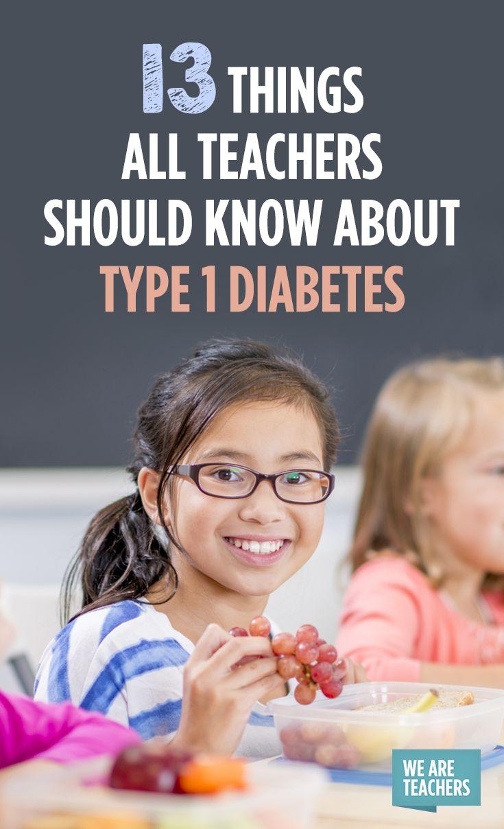 13 Things All Teachers Should Know About Type 1 Diabetes #weareteachers