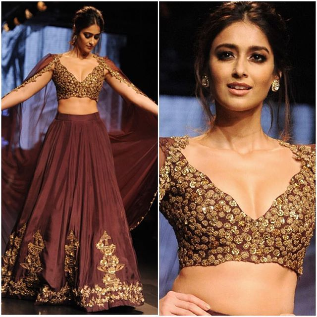 @ileana_official for @ridhimehraofficial during @lakmefashionwk #bollywood #style #fashion #beauty #bollywoodstyle #bollywoodfashion #indianfashion #celebstyle #ileanadcruz #ridhimehra #lakmefashionweek #indianfashionweek #runway