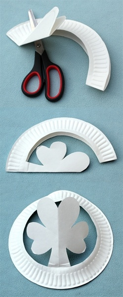 March- Shamrock hats form paper plates. A good craft for kids