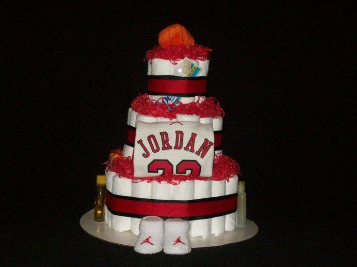 Baby Shower Cake Decorations At Michaels : Jordan Diaper Cake Jordan Baby Pinterest Diaper ...
