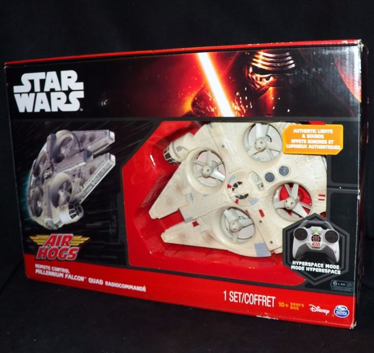 Air Hogs Star Wars RC Remote Control Millennium Falcon Quad Drone Flying Copter #AirHogs
