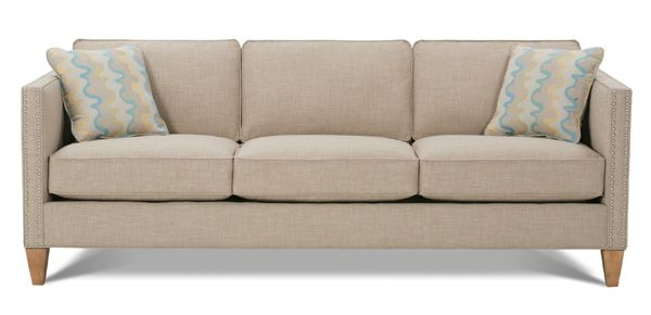"""Rowe Mitchell - i like the nail heads - maybe the kids will stop sitting on the arms!   L84""""xD37""""xH34""""   $1094"""