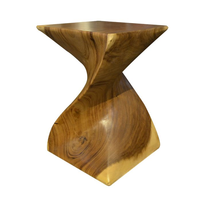 Cobra Stool. Stool intricately carved in a wavy design.