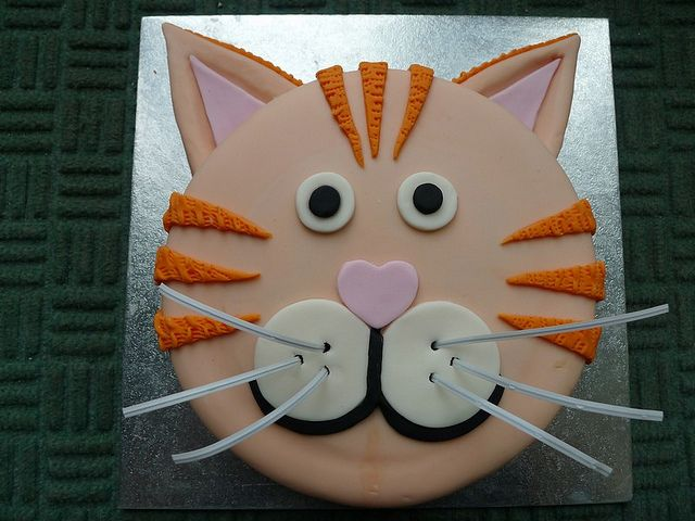 Ginger cat birthday cake by brazenjane, via Flickr