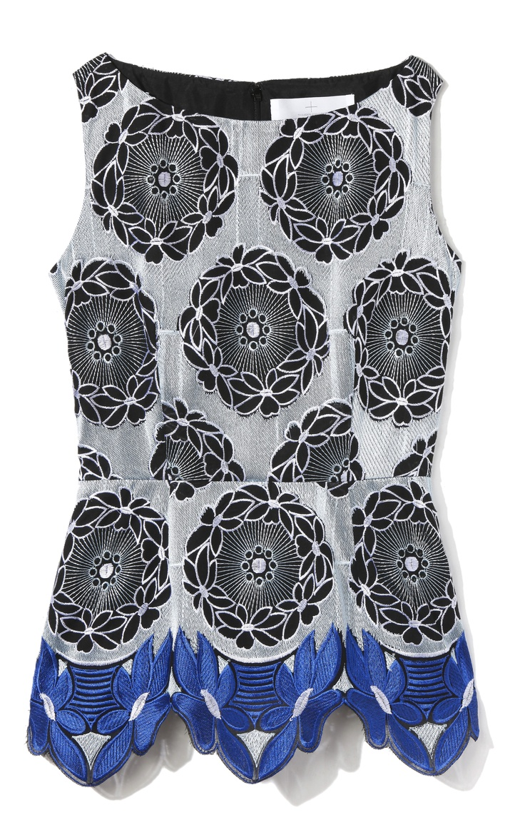 Thakoon Addition Lace Hem Top