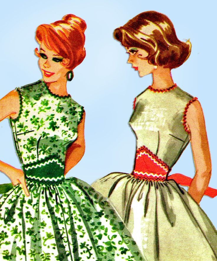 1960s Vintage McCall's Sewing Pattern 5394 Easy Misses Sun Dress Size 36 Bust