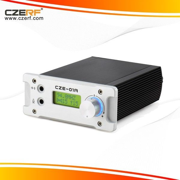 CZE-01A 1W Silver Radio Remote Broadcasting FM Transmitter for Sale