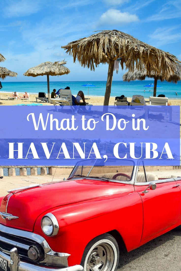From riding in classic cars to seeing listening to local music, there's always something going on in Cuba! Here's what to do in Havana, Cuba.