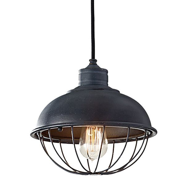 Rounded iron cage bowl pendant industrial cage ceiling light