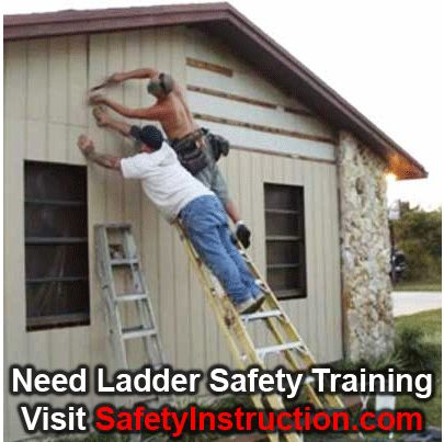 Ladder Safety Training: http://www.safetyinstruction.com/recomend_ladder_safety.htm