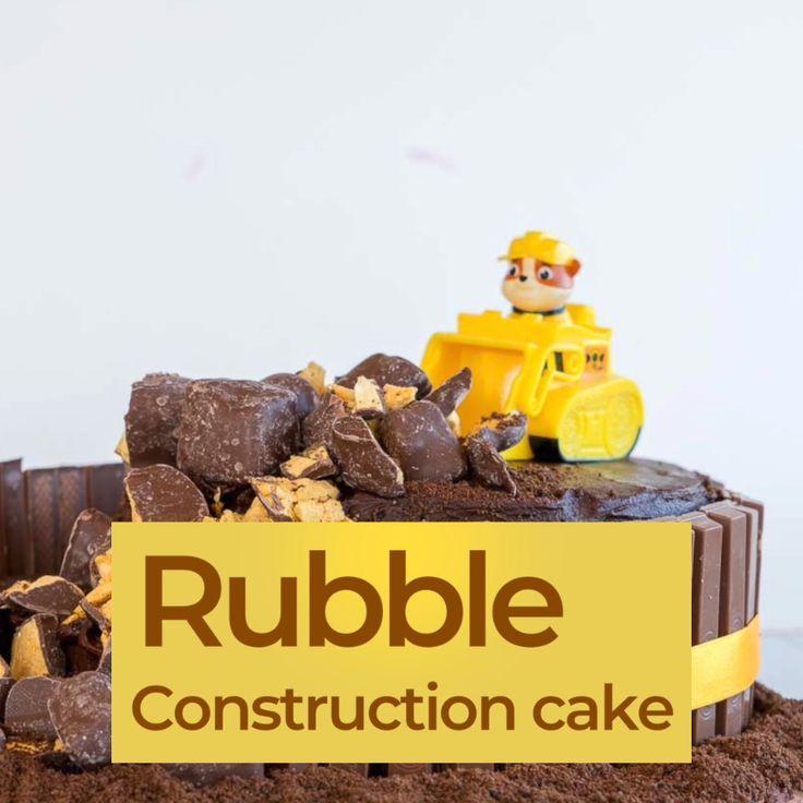 Paw Patrol Construction Cake – Einfaches Tutorial für Geburtstagstorten   – oliver birthday party