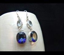 Mystic Topaz & Blue Topaz Sterling Silver Earrings