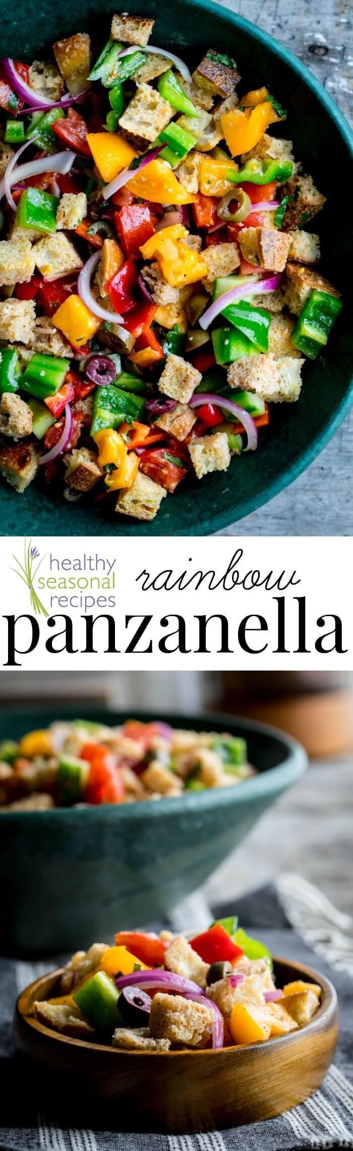 Rainbow panzanella –