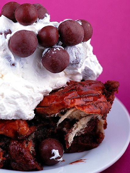 Whopper Chocolate Malt Bread Pudding: I can sense the sugar in the force with this one...