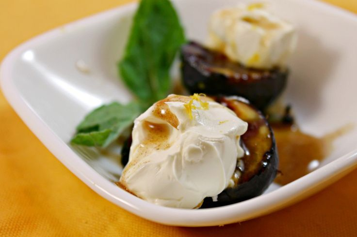 Grilled Mission Figs with Mascarpone and Spiced Honey #italian # ...