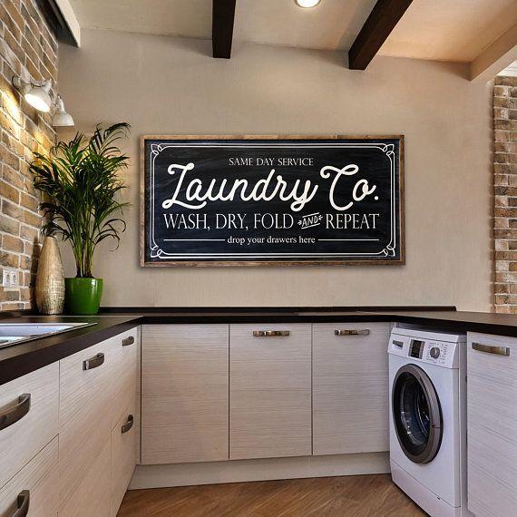 Laundry Room Organization Farmhouse Decor Baskets Bins And Wall Art Laundry Room Decor Laundry Room Design Laundry Room Organization