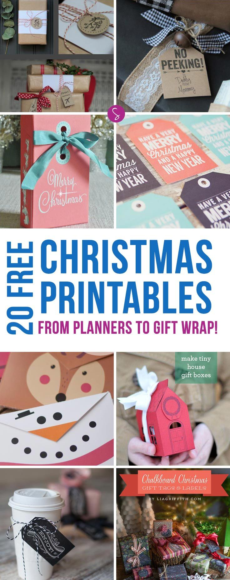 So many free Christmas printables here from planning to gift wrap!