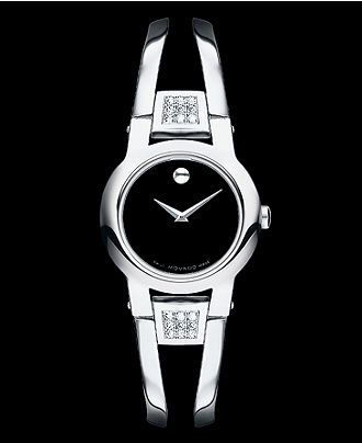 Movado Watch, Women's Swiss Amorosa Stainless Steel Bangle Bracelet 24mm 0604982 - Women's Watches - Jewelry & Watches - Macy's