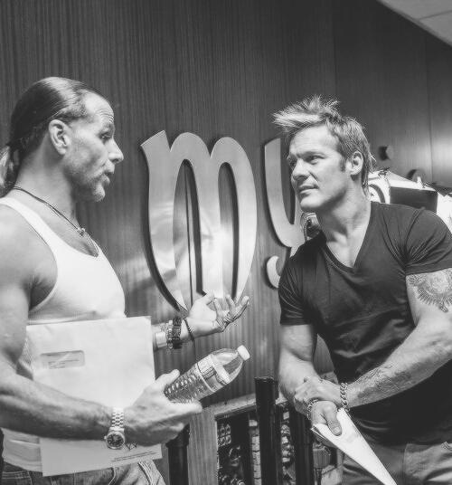 Shawn Michaels and Chris Jericho. Aren't they cute?!