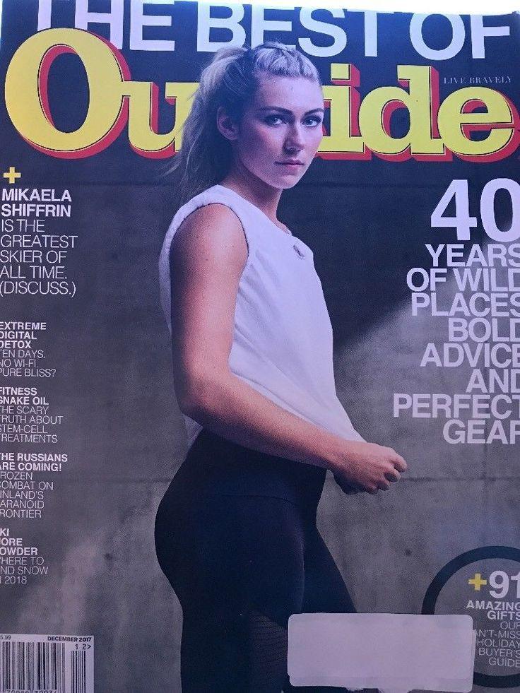 Outside Magazine December 2017 Mikaela Shiffrin Stem Cell Treatments Ski More    eBay