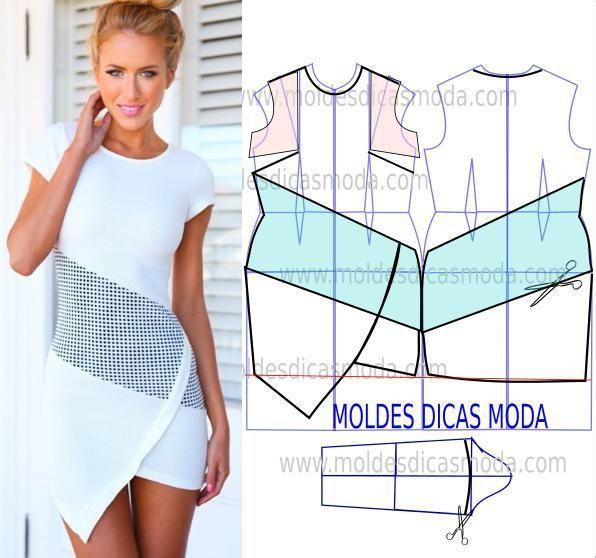 A proposta do molde vestido assimétrico tem como objectivo responder a alguns pedidos que me foram feitos para a passagem de ano. Faça a leitura de forma d