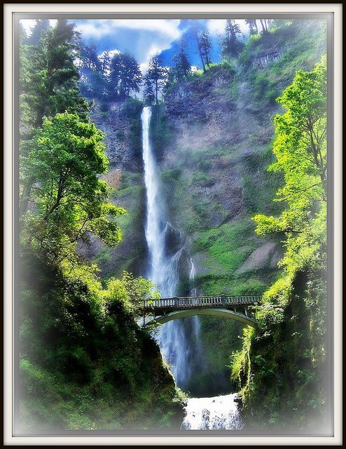 22 Beautiful Waterfalls Around The World   just found this pin. Its cool because that picture is actually of Multnomah Falls. :) #oregonianpride
