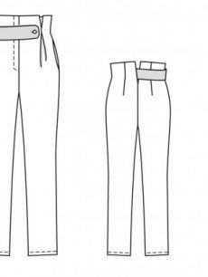 Брюки с высокой талией - выкройка № 113 из журнала 9/2014 Burda – выкройки брюк на Burdastyle.ru