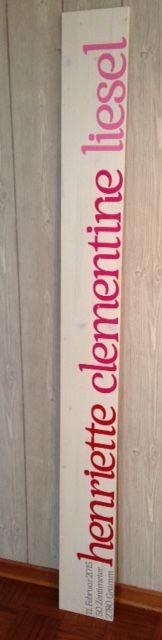 Larissaswelt Kindermesslatte September 2015  HENRIETTE CLEMENTINE LIESEL  Design 4 200cm Farben: hellgrau, rot, pint, rosa