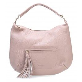 wardow.com - #Coccinelle, Megan Beuteltasche genarbtes Rindsleder altrosa #serenity #rosequarts #coloroftheyear #bag #pantone