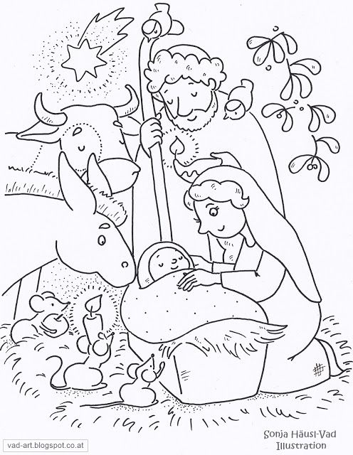 Sonja Häusl-Vad Illustrations #christmas coloring page for free
