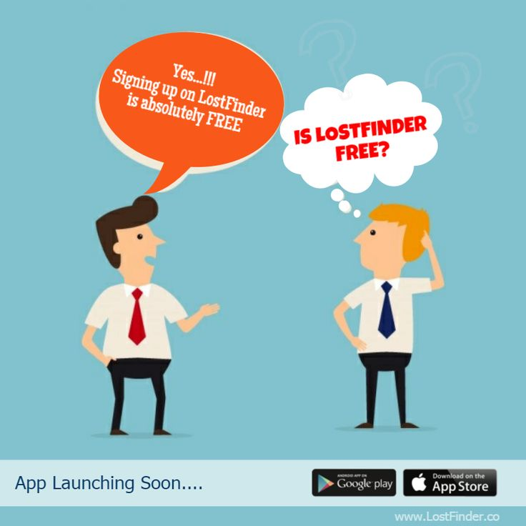 Is Lostfinder free? Yes...!!! Signing up on LostFinder is absolutely FREE... For more information about LostFinder Click here: http://lostfinder.co/ #LostFinder #MobileApp #Free #SignUp #AppLaunchingSoon