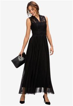 Long Lace Bodice Dress