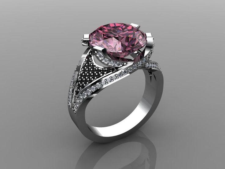 Big Pink Ring - STL,Rhino - 3D CAD model - GrabCAD