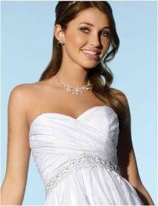 Nowa, Unikalna, Amerykańska Suknia Ślubna Firmy Alfred Angelo, Styl: 2077, Rozmiar 12 (USA), Kolor: White (Biały)/Silver (Srebrny)