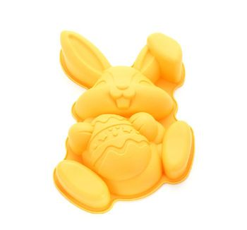 Hot Easter Rabbit Embrace Egg Shape Silicone Cake Mold Pastry Cookies Mold Cake Baking Tools O1602