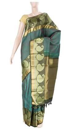 Pure kanchi silk with pure zari