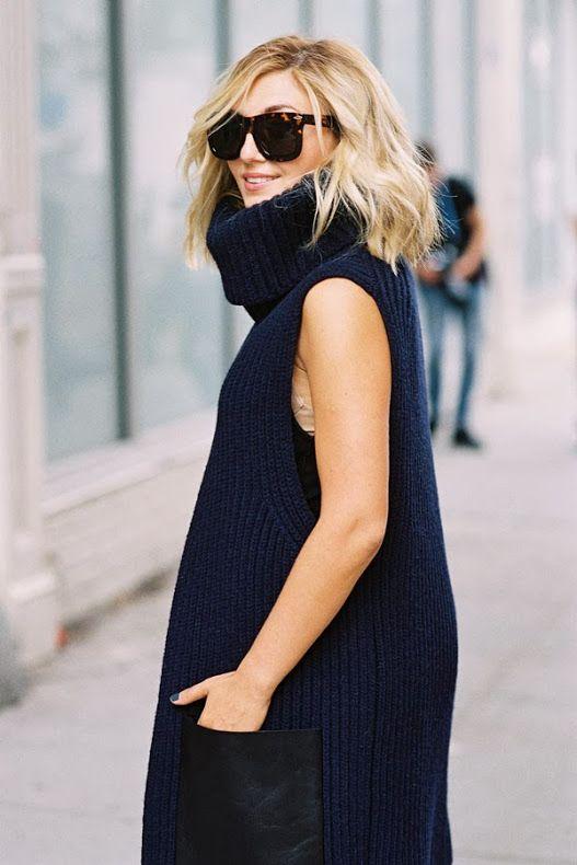 Sleeveless knit + sunnies