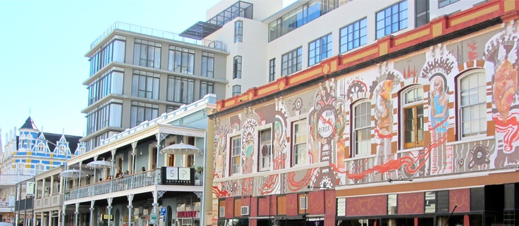 Colorful Buildings. Long Street, Downtown Cape Town, South Africa.