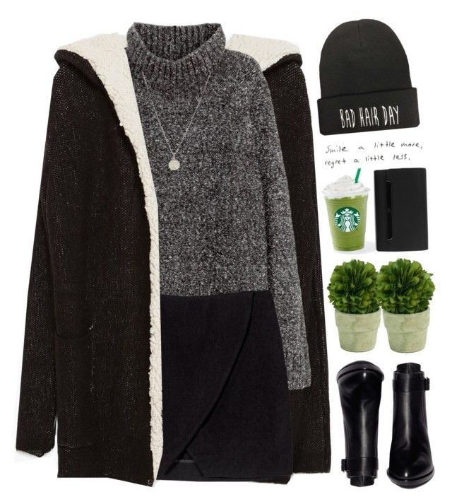 """//Rainy Day//"" by lion-smile ❤ liked on Polyvore featuring Alexander Wang, Zara, H&M, Dogeared, Mills Floral Company, Prada and Christian Louboutin"
