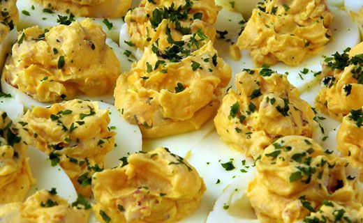 Epicure's Curried Devilled Eggs