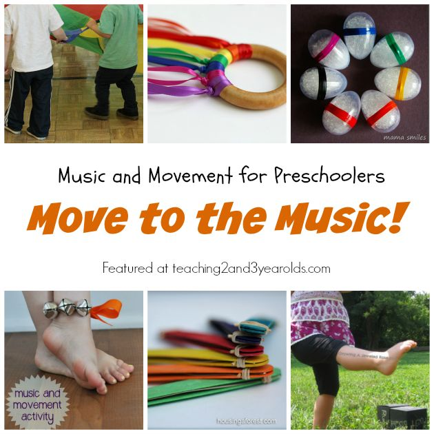 10+ music and movement activities that get preschoolers up and moving! These are perfect during circle time, or any time you need to burn some energy.