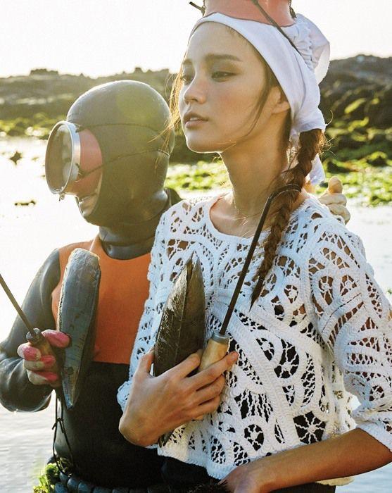 gone fishing jeju island female diver vogue KOREA.