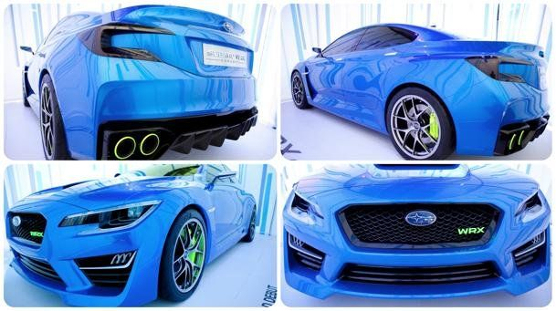 """Subaru WRX Concept stuns, no word yet on any engine details, other than it will be turbocharged, and the the interior remains a mystery. The concept sports BBS """"RI-D"""" one-piece forged Duralumin wheels and 245/40ZR20 Dunlop tires. It also boasts a lower, sleeker and wider stance; surely producing improved aerodynamic efficiency...In LOVE!"""