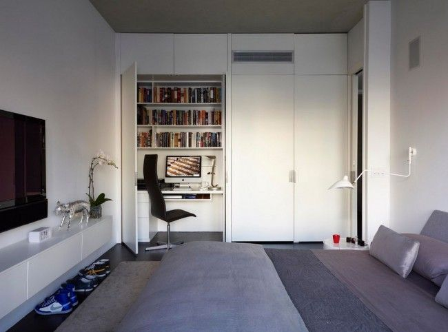 HappyModern.RU   55 идей дизайна рабочего места: у окна, в шкафу, детское рабочее место   http://happymodern.ru