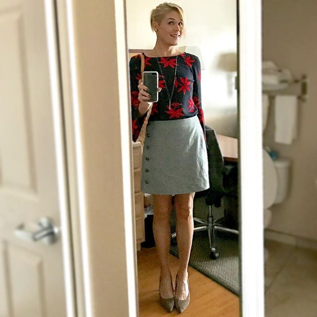 Feeling Pretty Cute Goodmorning Work Outfit Skirt