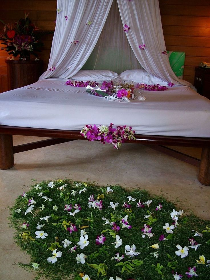 Romantic Bedroom At Night: 40 Beautiful Wedding First Night Bedroom Decoration Ideas