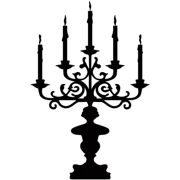 Universal Lighting and Decor Candelabra Black Wall Decal ($20) ❤ liked on Polyvore featuring home, home decor, wall art, backgrounds, art, decor, black, filler, black wall decals and black wall stickers
