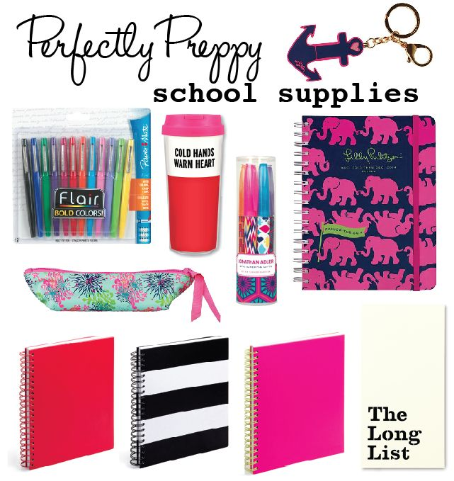 Perfectly Preppy School Supplies The Influenceher Collective