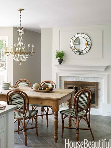 6 designer secrets for achieving a perfect white kitchen - House Beautiful Dining Rooms